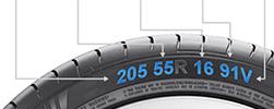 Aide choix dimensions pneus
